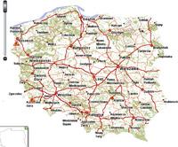 lengyelország autó térkép